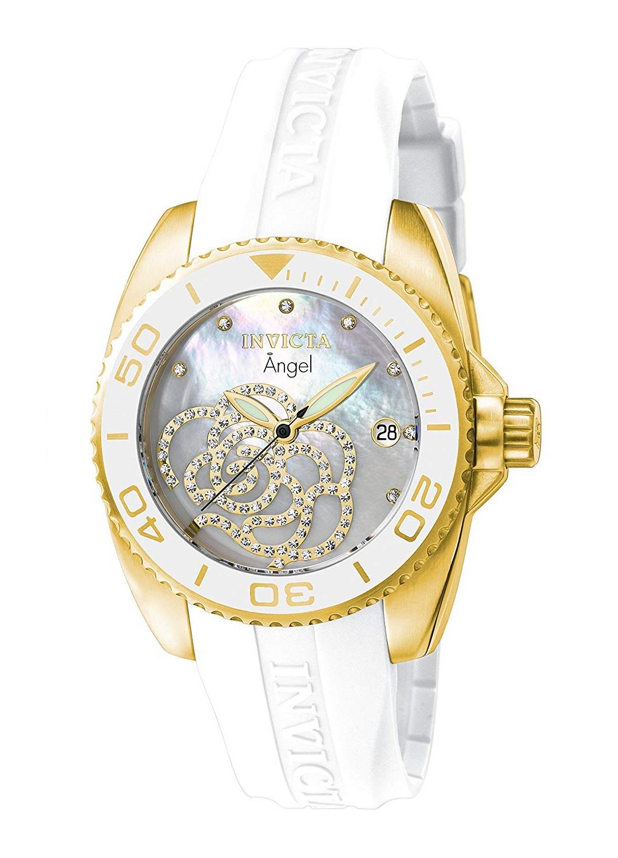Reloj Para Dama Invicta 0488 Tono Dorado Con Correa De Poliuretano Color Blanco Zshop Colombia