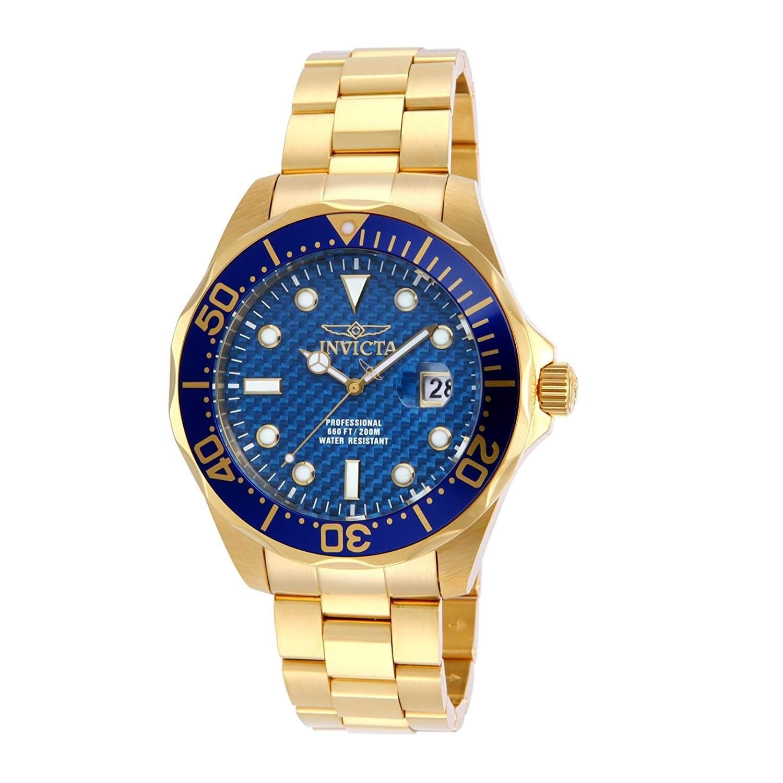 14357 En Quilates De Oro Caballero Para InoxidableBañada 18 Invicta Reloj Acero 8knOX0wP