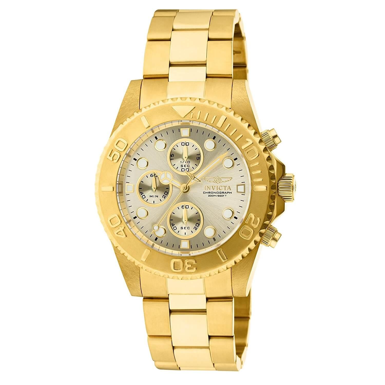 Symbol Of The Brand Invicta Hombres Pro Diver Cuarzo 100m Chapado En Oro Watches, Parts & Accessories Jewelry & Watches
