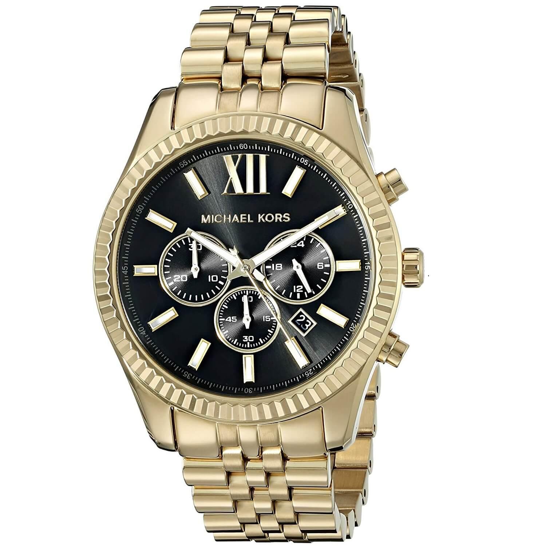 Reloj Para Mk8286 Kors Dorado Hombre Lexington Michael Onw8P0k
