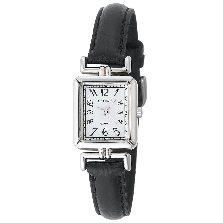5e50ec17b48a Reloj Timex c2 a901 para Mujer ransporte rectangular caso negro correa de  piel. – Zshop Colombia