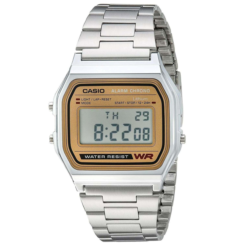 91b806ac21bf Reloj para hombre de Casio A158WEA-9CF de pulsera digital clásico ...