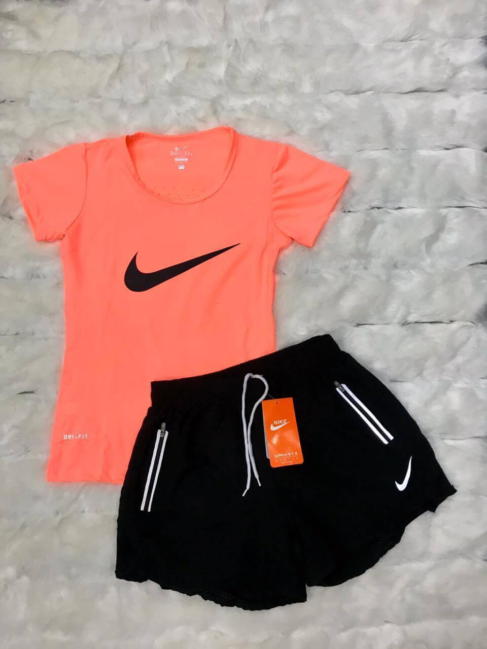 Conjunto Deportivo Nike para Mujer Importado en Short + Camiseta Deportivo,  Oferta