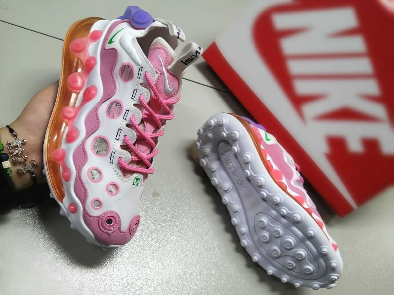 Zapatillas para Mujer Nike iSPA Air Max 720 running, suaves, cómodas, Rosado